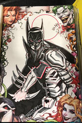 Sketch Cover Armour Batman by Tom kelly by TomKellyART