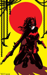 Batwoman Battle Stance By Tom Kelly