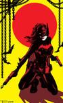 Batwoman Battle Stance By Tom Kelly by TomKellyART