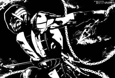 Scorpion Burning Blades mk11 By Tom Kelly