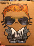 Hello Orange Cassidy Kitty by Tom kelly by TomKellyART