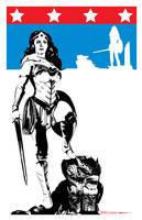 Wonder Woman Stars n Bars by Tom Kelly