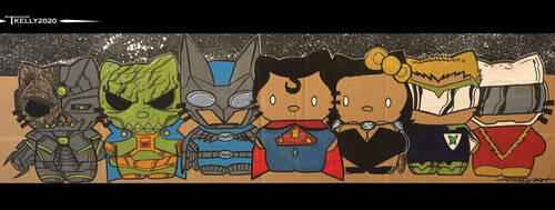 Crime Syndicate Kitties by Tom Kelly by TomKellyART