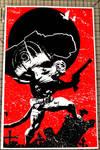 Hellboy Fist SK by Tom Kelly