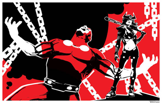 Mr Miracle and War Barda by Tom kelly
