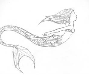Stainglass Mermaid by Riku-Aelitonnes