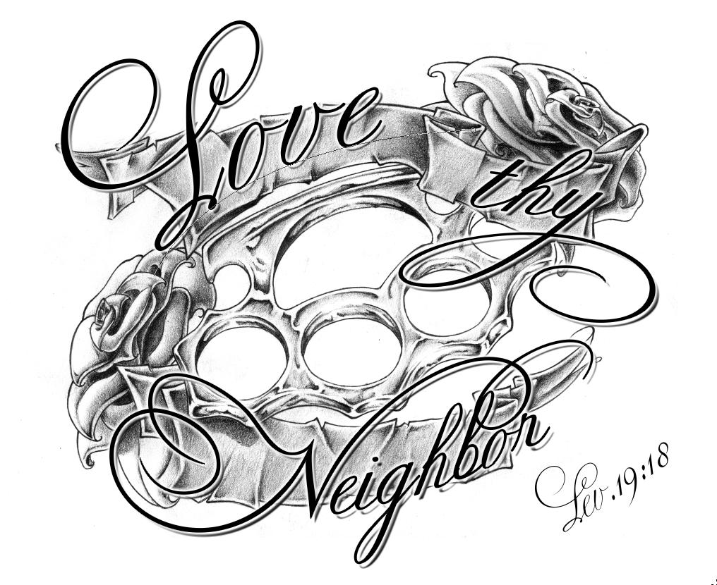 love thy neighbor fin by whoiscid on deviantart. Black Bedroom Furniture Sets. Home Design Ideas