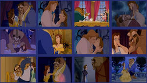 Belle and Beast Wallpaper