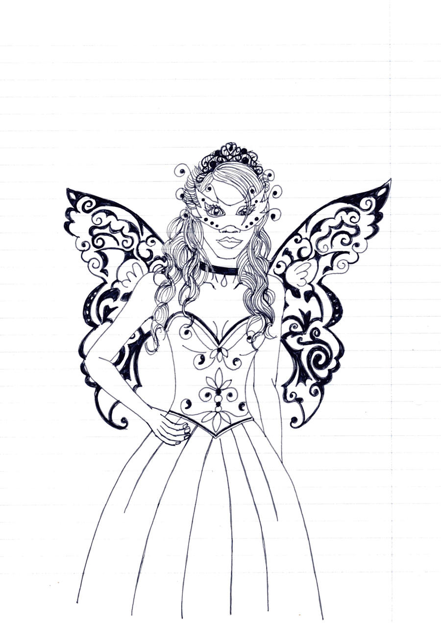 Devil Fairy Drawings Fairy princess by red-devil-
