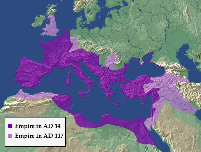Roman empire s extent 117 ad by fall3nairborne on deviantart
