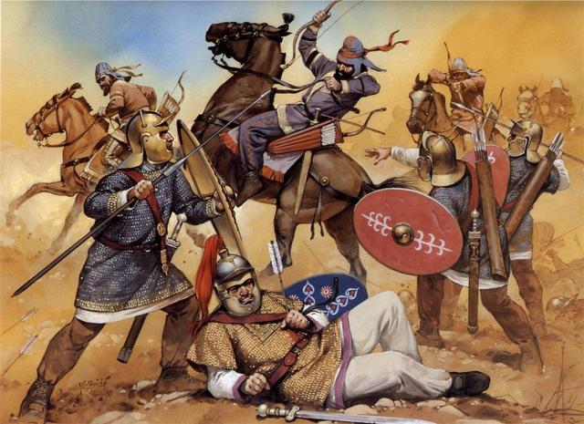 Legionaries vs Sassanid Cav. by Fall3NAiRBoRnE