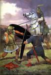 Roman Cav. duel on foot