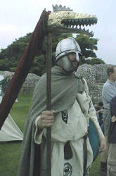 Roman Reenactor with draco by Fall3NAiRBoRnE