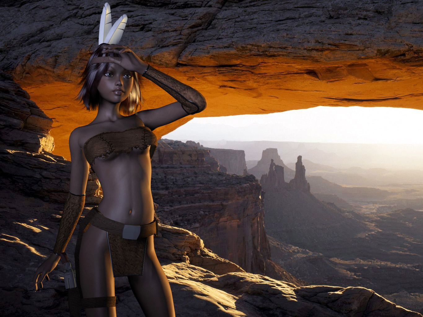 Natvie in Grand Canyon 001 by hidden-joker