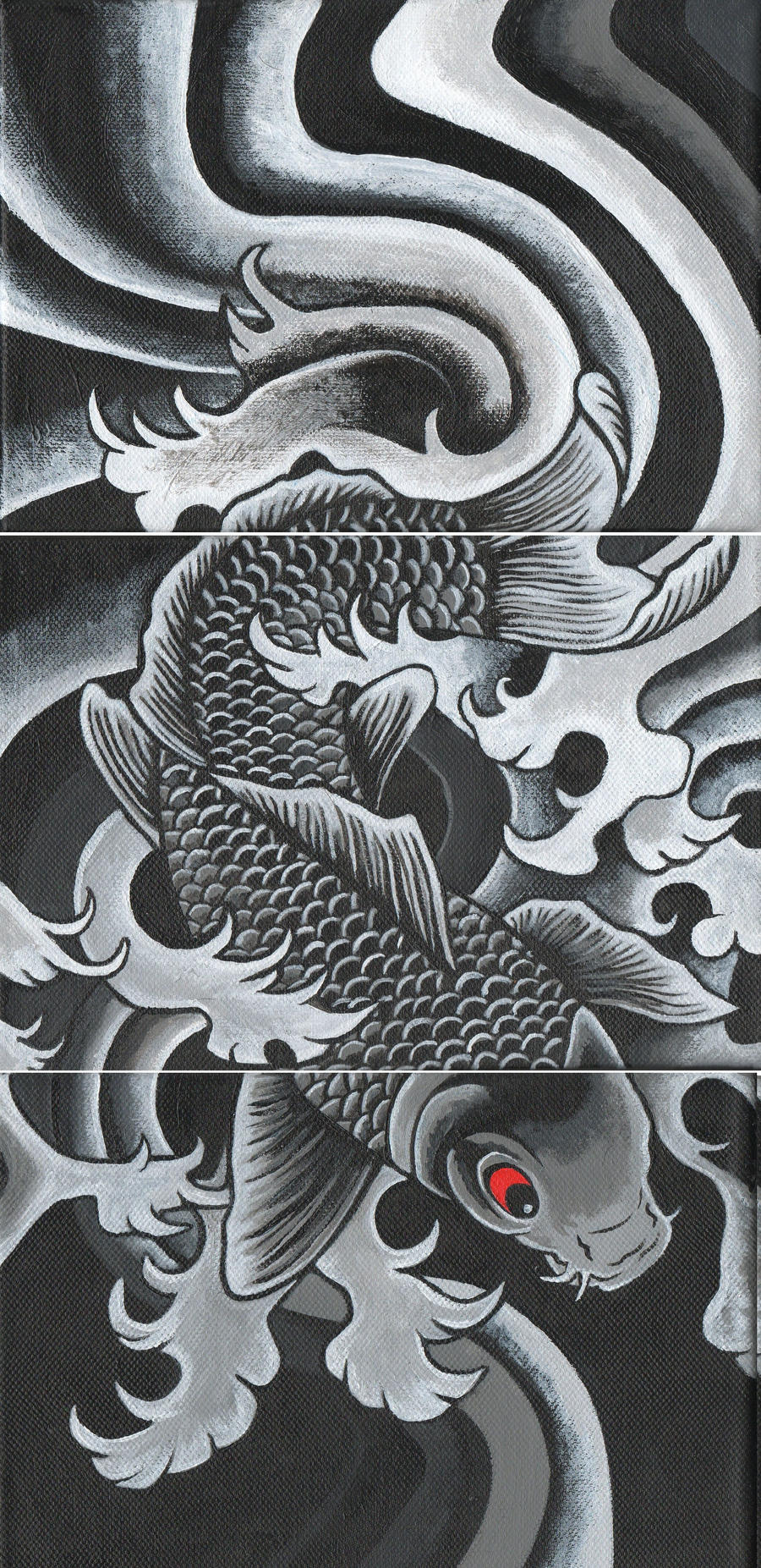 Koi fish painting by dieselboy666 on deviantart for Koi fish artwork