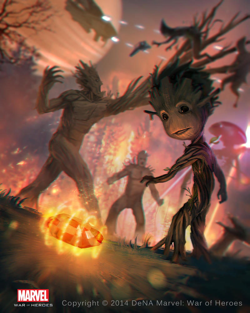 Groot - Marvel War of Heroes by KeiNhanGia