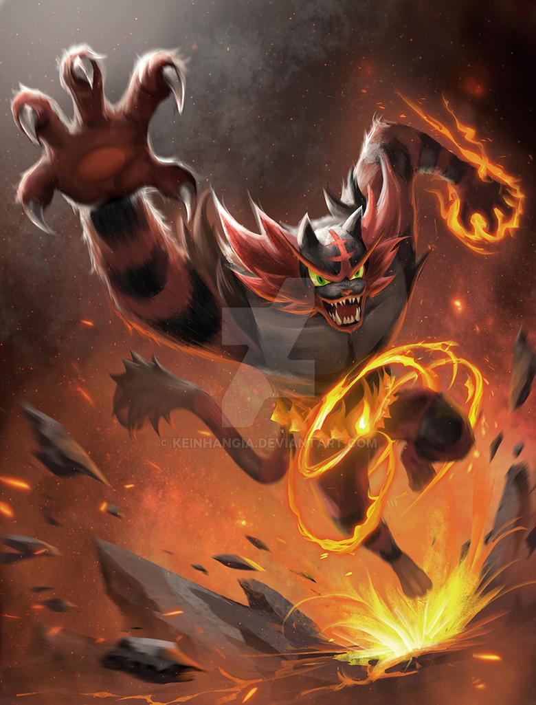Incineroar - Litten offical final evolution by KeiNhanGia