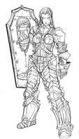 Genasi half drow concept armor