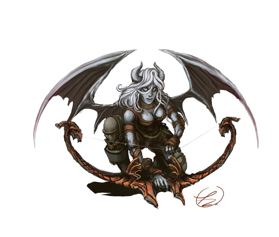 Half Dragon Half Human Male Drawing