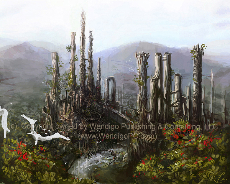 Wendigo Publishing / Elven City Commission by Art-Calavera