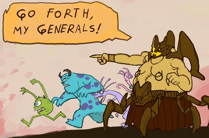 Azmodan's Generals by Art-Calavera
