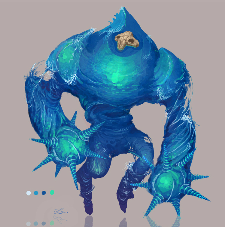 Chronicles of Jinx / Water Elemental Concept Art by Art-Calavera