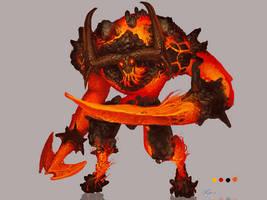Chronicles of Jinx / Fire Behemot Concept Art by Art-Calavera