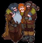 The Hobbit, Bifur, Bombur and Bofur.