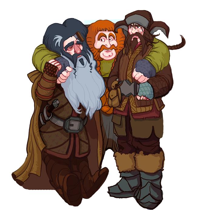 The Hobbit, Bifur, Bombur and Bofur. by Art-Calavera
