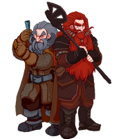 The Hobbit, Oin and Gloin by Art-Calavera