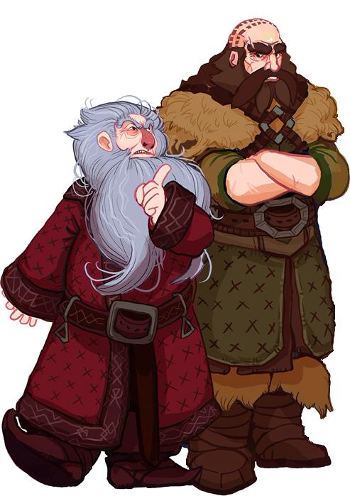 The Hobbit, Balin and Dwalin by Art-Calavera