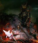 Morgoth and Fingolfin, the Ruin of Beleriand