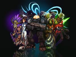 Blizzard All-Stars by Art-Calavera