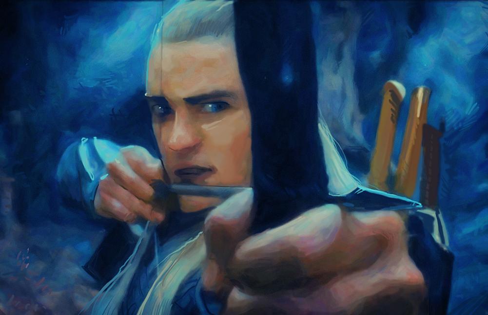 Legolas - Desolation of Smaug by Art-Calavera