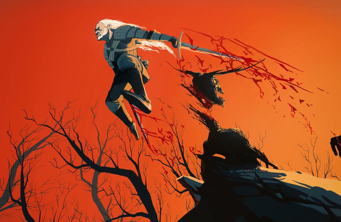 Anime/manga Fan Art - Página 2 Geralt_of_rivia_by_art_calavera-d6i65h3