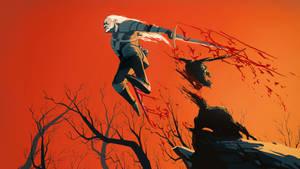 Geralt wallpaper by Art-Calavera