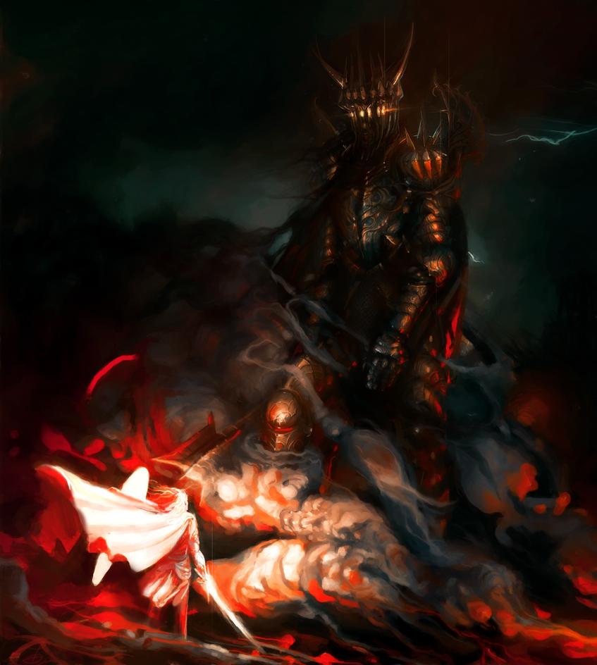 Morgoth and Fingolfin Revamped by Art-Calavera