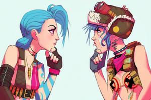 Jinx and Tank Girl by Art-Calavera