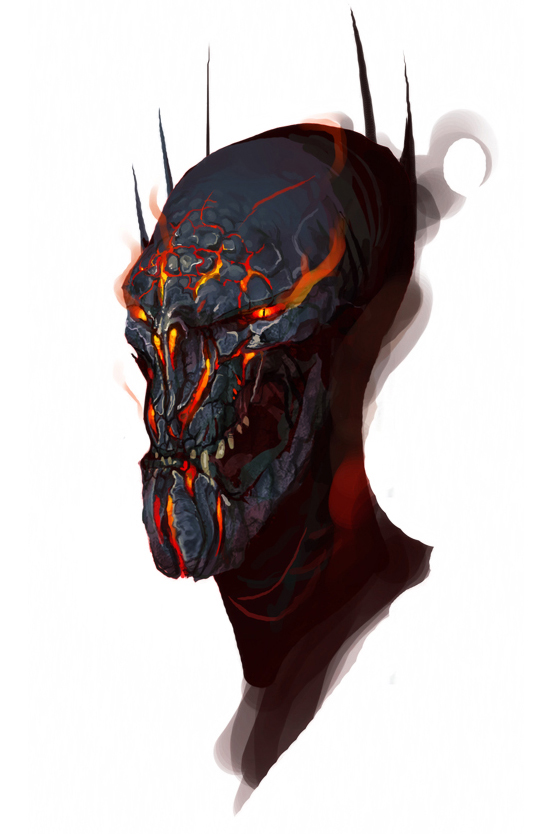 Sauron Helmetless by Art-Calavera