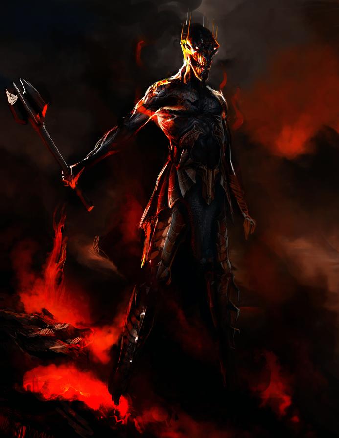 Naked Sauron by Art-Calavera