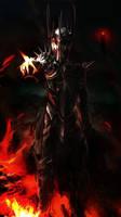 Dark Lord Sauron by Art-Calavera