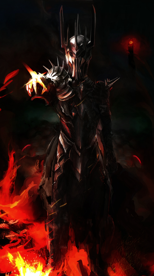 Dark Lord Sauron by Art-Calavera