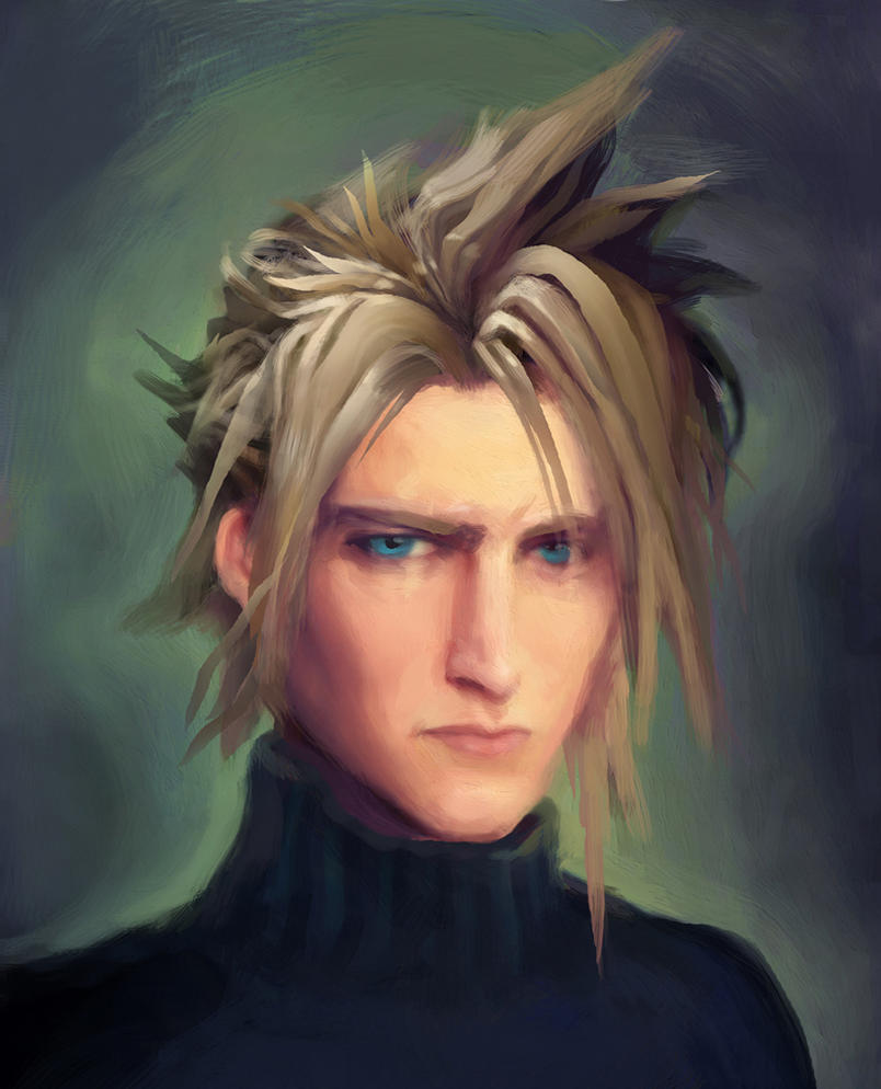 Cloud Strife Portrait by Art-Calavera