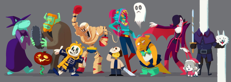Halloween video games costume spooky undertale art-calavera u2022