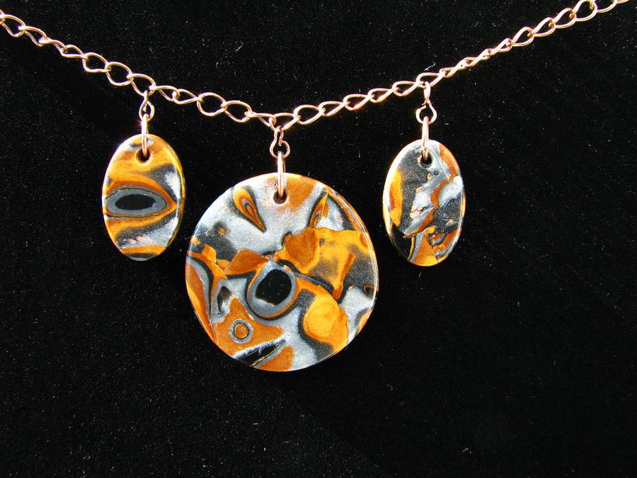 Mokume gane polymer clay necklace by wasabeads on deviantart mokume gane polymer clay necklace by wasabeads aloadofball Gallery