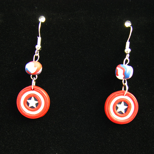 captain america earrings captain america shield earrings by wasabeads on deviantart 2017