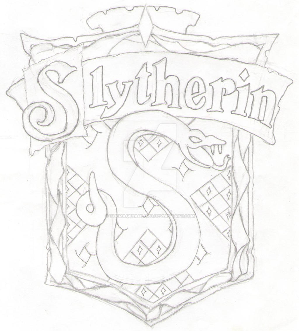 Line Drawings From D Models : Slytherin by themagicianlord on deviantart