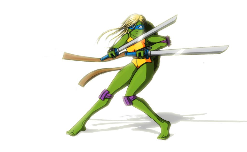 Crazy ninja turtles girl - YouTube