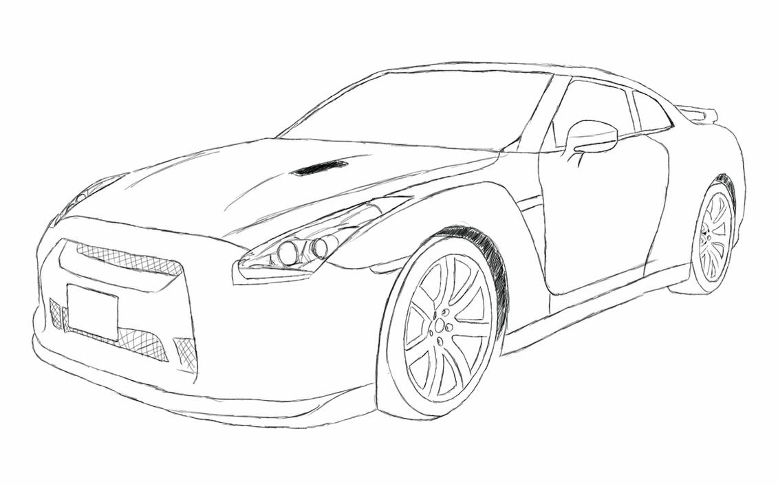 Nissan Gt R Coloring Pages Sketch Templates on corvette coloring pages