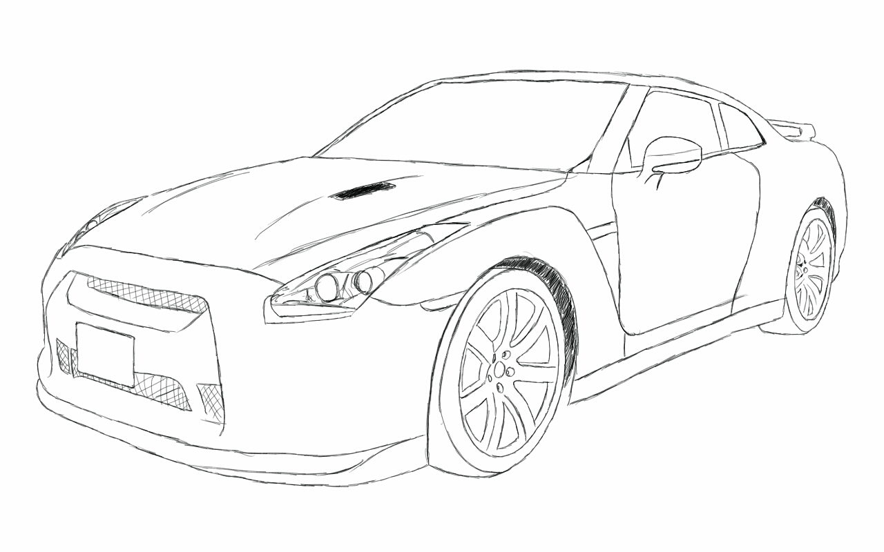 Nissan Gtr R35 Sketch By Xrasnovax On Deviantart